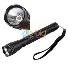 2 AA Super 3W LED Bright Camping Flashlight Torch Light Lamp Hand Strap #4 Home