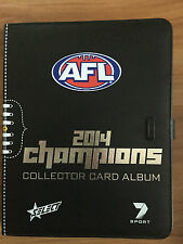 2014 Select AFL Champions complete Base set with Official Album