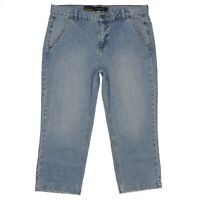 Calvin Klein Jeans Vintage Wash Crop Womens Denim Size 12 34 x 22.5 Stretch NEW