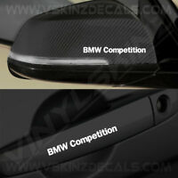4x BMW Competition Premium Quality Door Handle / Mirror Decals Stickers Alpina