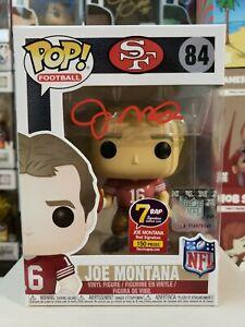 Funko Pop! Football SF 49ers Joe Montana #84 Signed JSA COA New w/Pop Protector