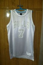 Rare Chicago Bulls Reebok NBA Jersey #7 Ben Gordon Basketball Silver Men Size L