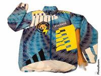 🔥 Descente Purple Blue Yellow Lightweight Cycling Track Jacket USA • Men's Sz L
