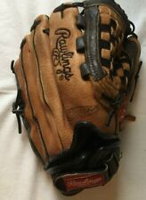 "Rawlings Baseball/Softball Rt Thrower Leather  PP11BT 11"" Good Starter Glove"