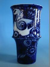 RS1116-262: Große Rosenthal Vase Wiinblad mit Taube blau weiß