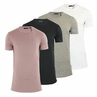 Mens T Shirt Brave Soul Harrel Longline Crew Neck Short Sleeve Top New