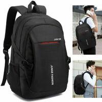 Fashion Mens Black School Backpack Satchel Laptop Casual Travel Bag BL