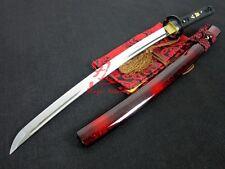 battle ready japanese wakizashi katana sword musashi tsuba blade very sharpened