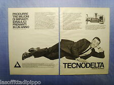 QUATTROR981-PUBBLICITA'/ADVERTISING-1981- TECNODELTA (versione B) -2 fogli