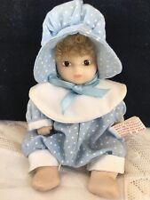 vintage miniatura bambolina in porcellana bisquit da collezione