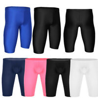 Men Compression Shorts Sports Running Tight Pants Short Fitness Bulge Pouch Gym