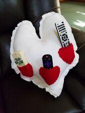 HandMade Decor Heart Shaped Throw Pillow Valentine/Love Shirred/Shabby Cushion