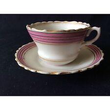 Tasse et sous-tasse rose Royal Albert Circa 1900 Porcelaine Anglaise BRITAIN