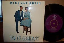 MIKI AND GRIFF,  TWOS COMPANY,  PYE RECORDS 1961  MINT-