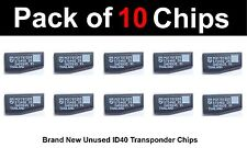 VAUXHALL Compatible Brand New ID40 TRANSPONDER CHIPS - Pack of 10 CHIPS.