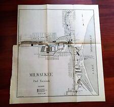 1909 Sketch Map of Milwaukee Port Terminals Railroads Canals Coal Fuel Companies