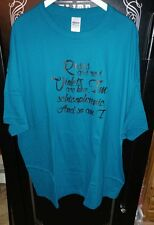 I'm a Schizophreric Funny Humor WHAT ABOUT BOB TEE Bill Murray Teal/Green 4XL