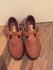 Brand New Brown Leather Buckle Shoes Kickers Size 3