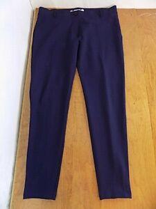 Betabrand Women's Classic Pull-on Dress Yoga Pants Sz 2XL Navy Faux Pockets.