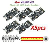 5pcs MH-MX8 M28 Bluetooth MP3 Audio Receiver Lossless Decoder BLT 4.2 MH-M28