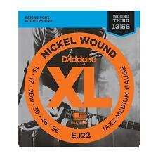 D'Addario EJ22 Nickel Wound Jazz Med Gauge Guitar Strings 13-56 Ships FREE U.S