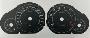 Maserati GranTurismo MC Stradale speedometer dial 320km/h