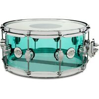 DW Design Series Acrylic Snare Drum (Limited-run Sizes) 14 x 6.5 in. Sea Glass
