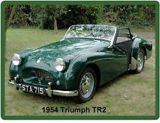 1954 Triumph TR2 Green  Refrigerator / Tool Box  Magnet Gift Item