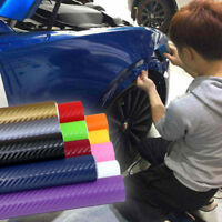 127x30cm Black 3D Carbon Fiber Vinyl Car DIY Wrap Sheet Roll Film Sticker Decal