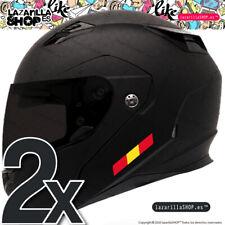 2x pegatinas BANDERA ESPAÑA pegatina moto casco vinilo coche ESPAÑA sticke(2PCS)