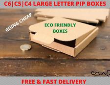 BROWN LARGE LETTER CARDBOARD BOX SHIPPING UK ROYAL MAIL POSTAL PIP C4/C5/C6/C7