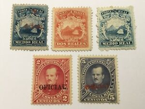 old stamps  COSTA RICA     x  5