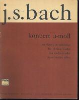 """J. S. Bach : """" Konzert a-moll """"  für Violine ( Viola ) - Klavierauszug"""