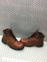 Wolverine Brown Leather Lace Up Work Boots Men's Size 10.5 M