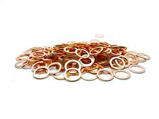 12x Triumph Daytona 675 2012 brake line banjo bolt copper crush washers kit