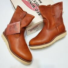 1990s Red Wing 866 Pecos Pull On Oil Tanned Leather Boots DeadStock Usa Made