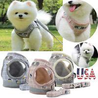 Reflective Mesh Pet Dog Harness+Leash Strap Set Soft XS-XL Puppy Cat Vest Collar