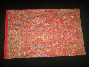 Ralph Lauren Galahad Paisley STD Pillowcase Red Paisley Border Cotton Sateen