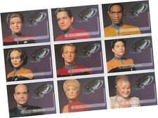 "Star Trek Voyager Season 1 Series 2: 9 Card ""Embossed Crew"" Walmart Set E1-9"