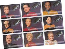 "Star Trek Voyager Season 1 Series 2: 9 Card ""Embossed Crew"" Walmart Set E1-9"