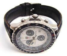 Vintage Hard to Find TAG HEUER Pilot 1/10 Model 530806 Chronograph Watch NR