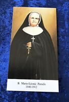 Vintage Antique Saint Marie-Leonie Paradis Holy Prayer Card Catholic Religious