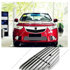 Stainless Front Bumper Loewr Grille Grill Trim k For Honda Acura TSX 2011-2014