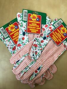 Ladies Womens Floral Gardening Garden Gloves General Working Gloves