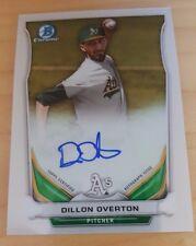 2014 Bowman Chrome BCAP-DO Dillon Overton Autograph A's