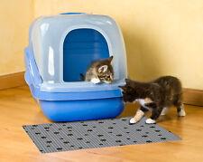 DRYMATE CAT LITTER BOX MAT OR PET FOOD MAT 20x28 GRAY - PAW PRINT