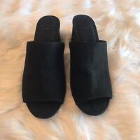 GAP Women's Black Suede Size 6 Shoe Heel Open Toe
