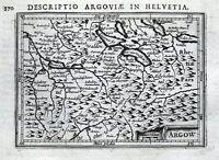 SWITZERLAND, BERN, LUCERNE, ALTDORF, SPIEZ, BERTIUS original antique map 1618