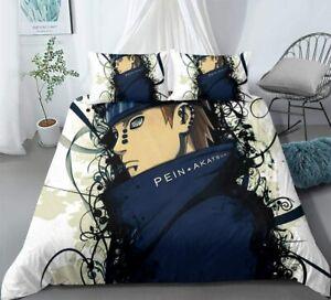 NARUTO0 Akatsuki Pain Bedding Set 3PCS Duvet Cover&Pillowcases Comforter Cover