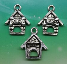 Set of 6 New TOP DOG Charms Tibetan Silver Alloy TWO EACH OF PICS  Free Ship